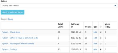 Drupal 8 - Mass edit field value   OpenWritings net