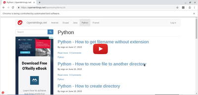 Python - Selenium - Click on link | OpenWritings net