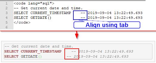 Notepad++ - Tab alignment