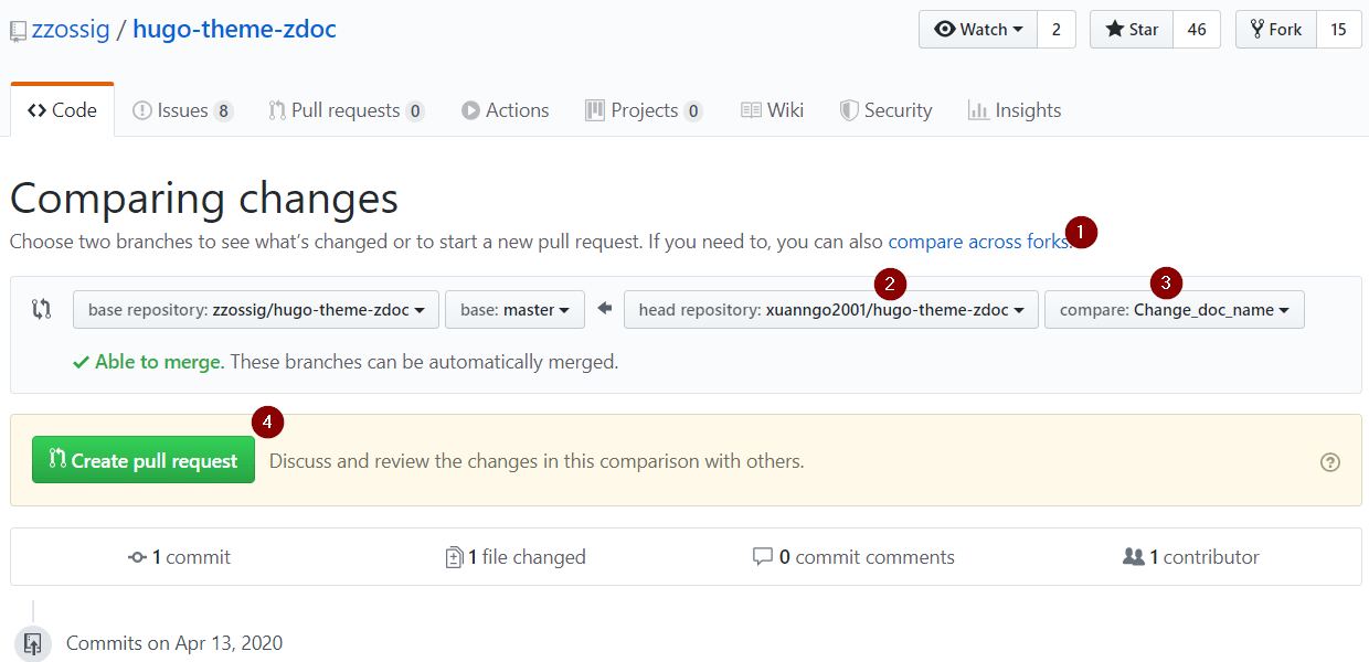 Github - Pull request